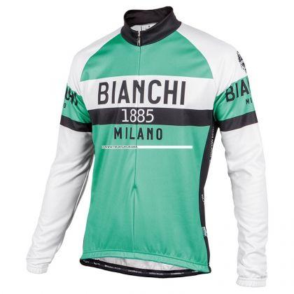 Maillot manches longues BIANCHI MILANO Curno celeste-blanc-noir |  Maillots manches longues | Bob Shop Boutique Vélo