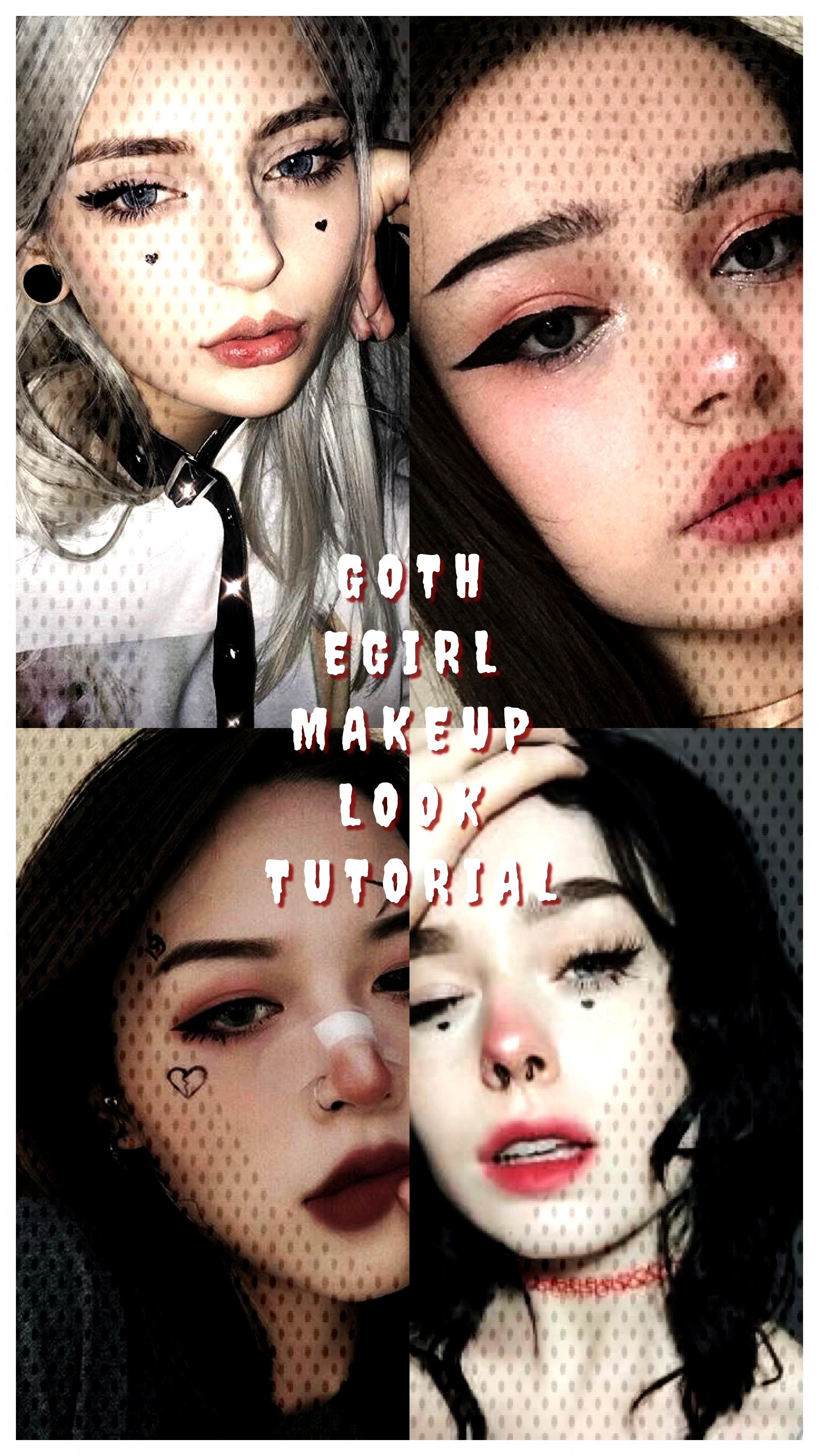 Tutorial Makeup Egirl Goth Girl Look Easy Eye E Egirl Makeup Goth E Girl Makeup Look Easy Goth Goth Eye Makeup Goth Makeup Tutorial Cool Makeup Looks