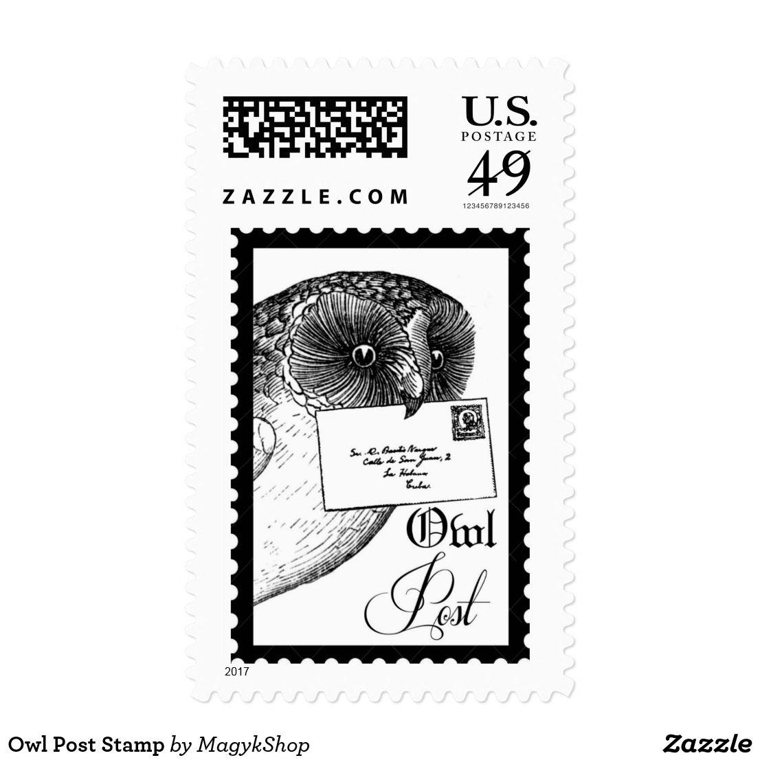 Owl Post Stamp Post Stamp Owl Post Stamp