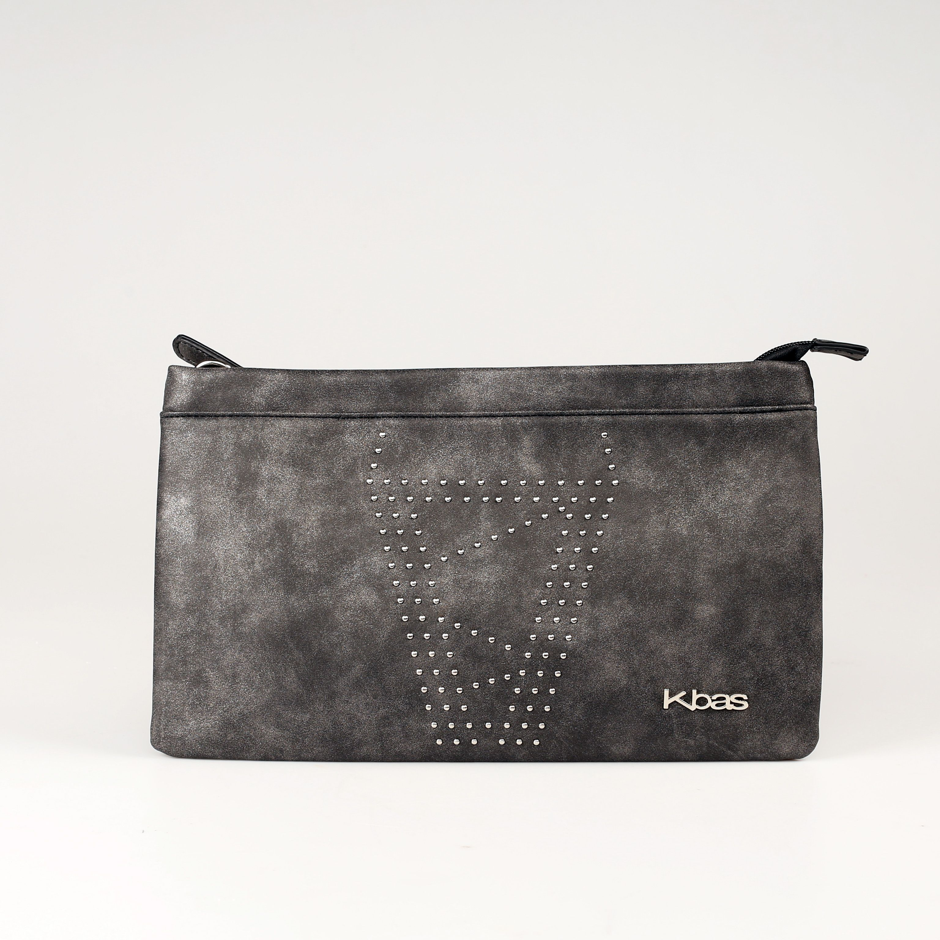 Elegantná listová kabelka v intenzívnej sivej farbe.