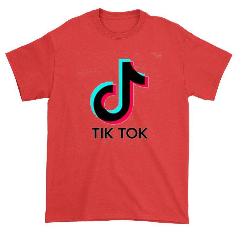 Tiktok Shirt Red Print Clothes Shirts Direct To Garment Printer