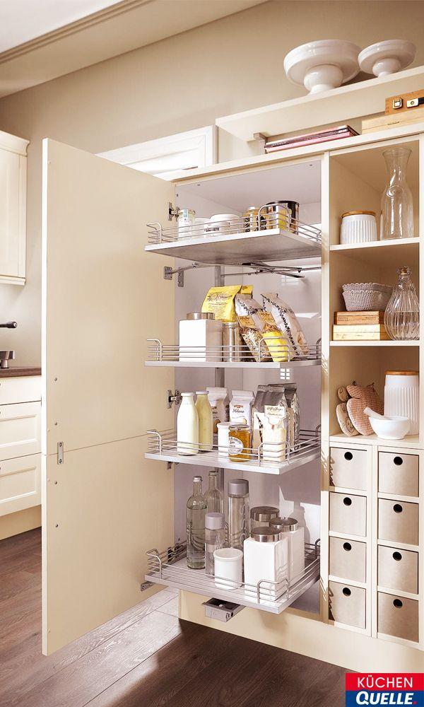 Aufgrund ihrer Höhe bieten Küchenhochschränke viel Stauraum für - www küchen quelle de