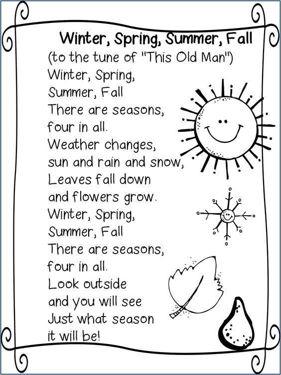 seasons song weather and seasons preschool theme kindergarten songs preschool songs school. Black Bedroom Furniture Sets. Home Design Ideas
