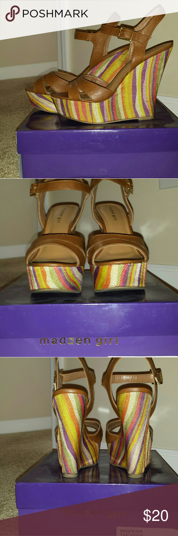 Madden Girl Wisperr Wedges. Offers welcome. Beautiful wedge sandals. Worn several times. In good condition. Offers welcome. Madden Girl Shoes Wedges