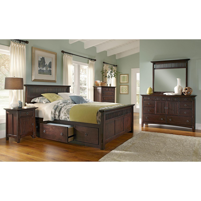 american signature furniture  arts crafts dark storage