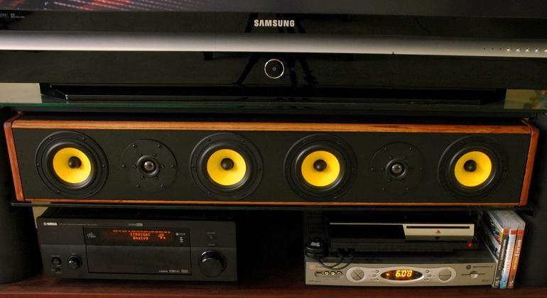 DIY Center Channel Speaker | Speaker projects, Diy ...