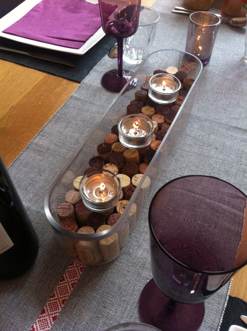Centre de table en bouchons de liège par Lili