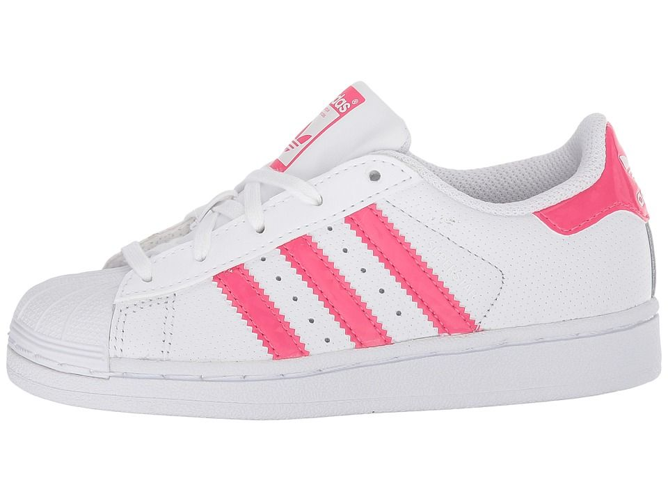b659a2ddc081 adidas Superstar Iridescent C (Little Kid) Originals Kids Shoes White Real  Pink White