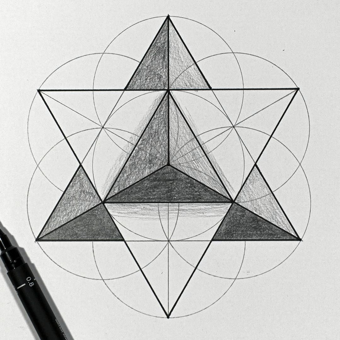 Drawing a Star Tetrahedron   Real Time Sacred Geometry Tutorial