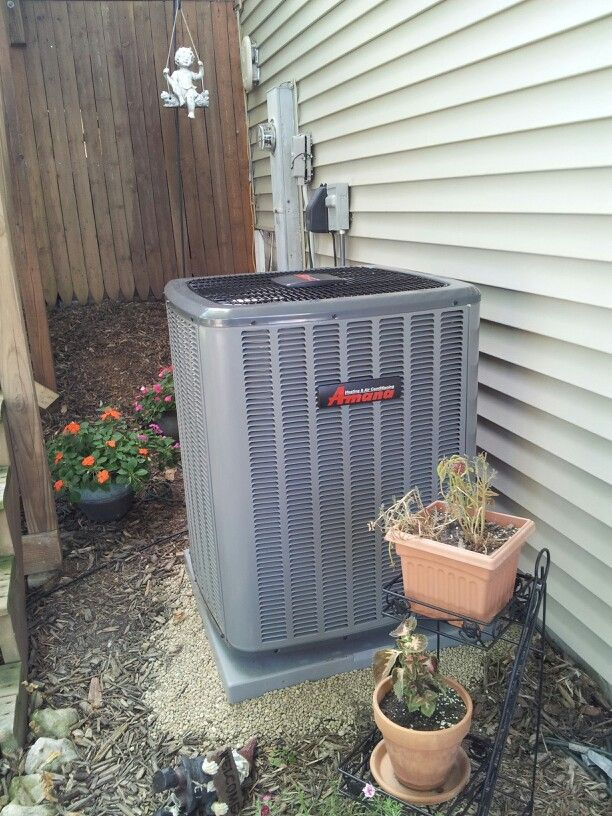 16 SEER Amana Air Conditioning system. Furnace