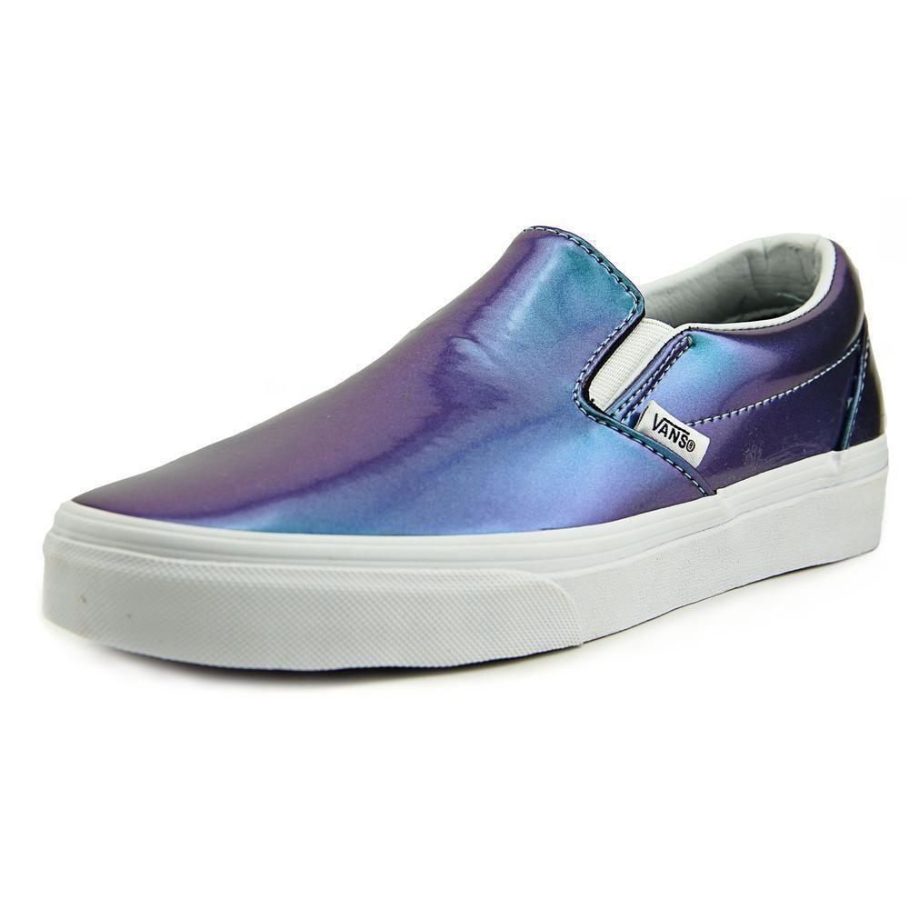 fc130f76501387 New Vans Classic Slip On Women s Patent Leather Blue Skate shoes Sneaker  VXG8EVW