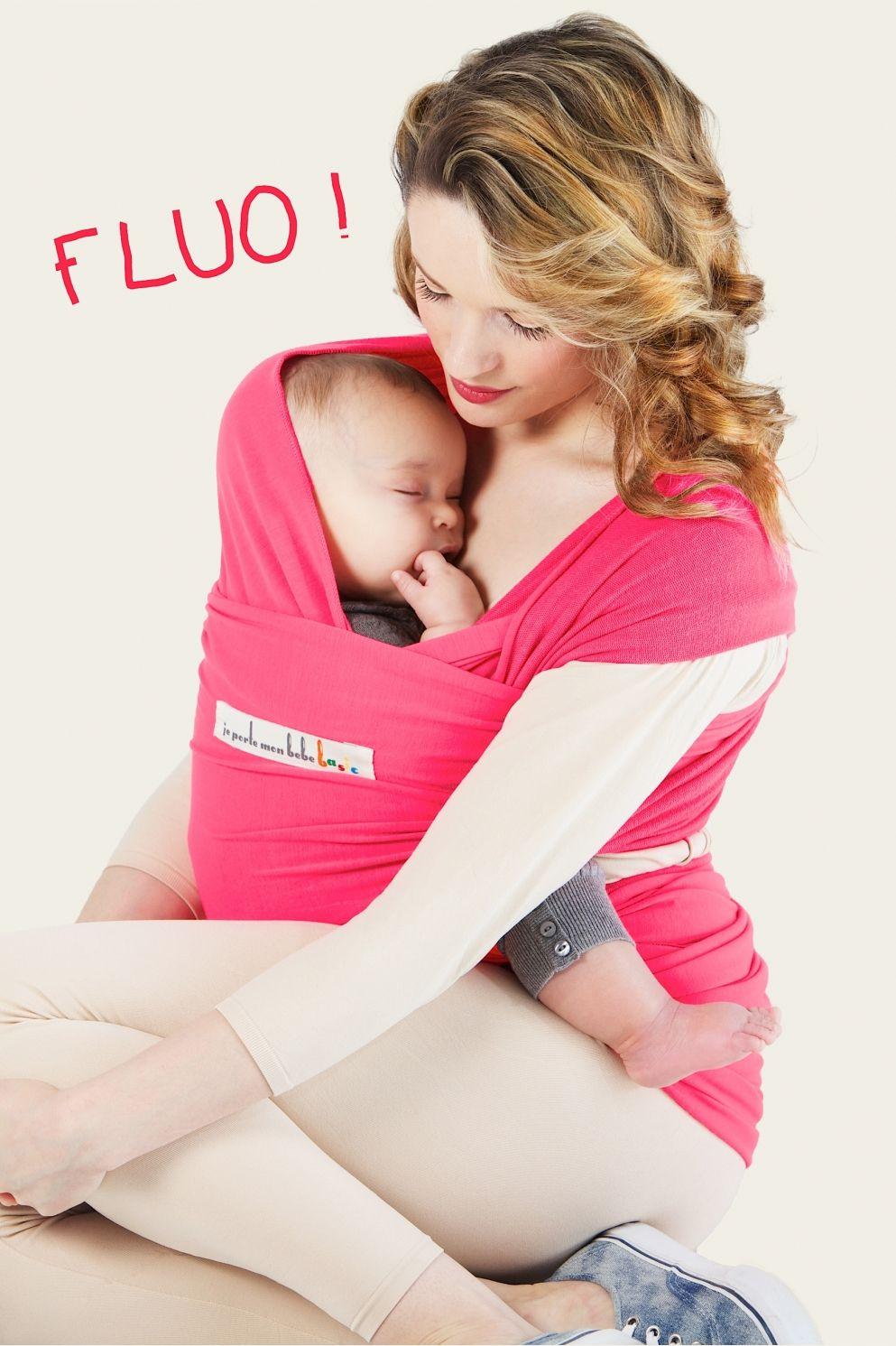 #echarpe de #portage jpmbb couleur fluo rose pour etre dans l'air du temps grâce à #bebe