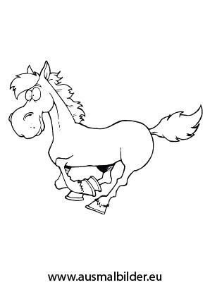 ausmalbild galoppierendes pferd zum ausmalen. #