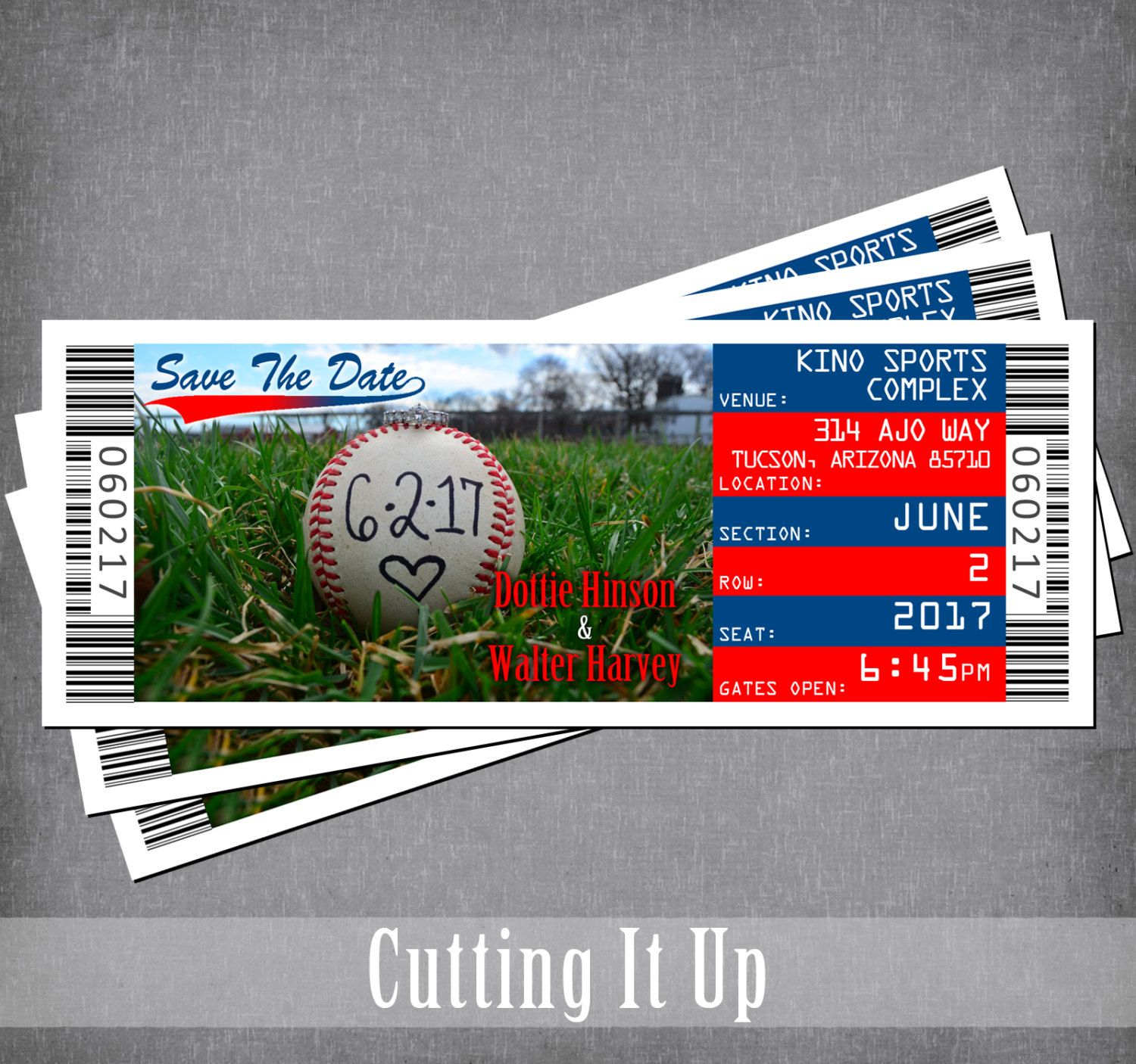 Baseball Wedding Save The Date Magnet Sports Ticket Save Our Date