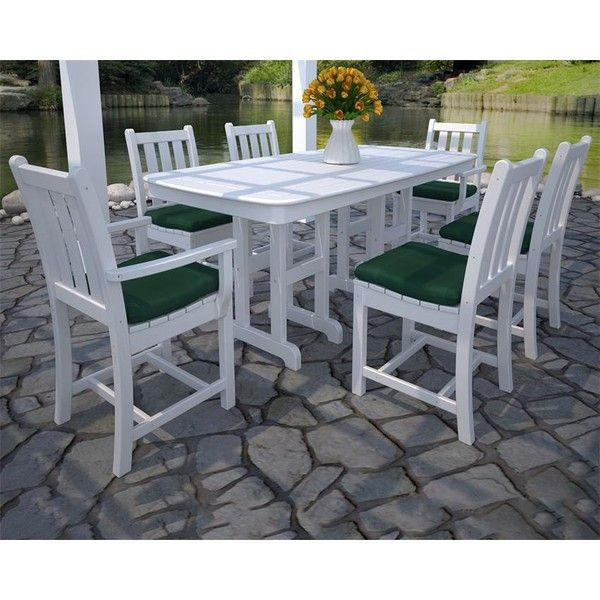 POLYWOOD® Traditional Garden 7-Piece Dining Set ($2,370) ❤ liked on ...
