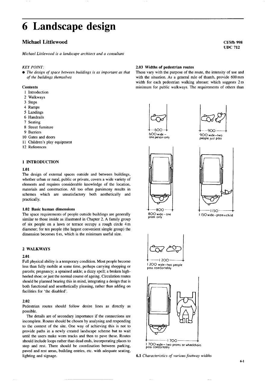 Metric Handbook Part 6 - Landscape Design   Landscape design