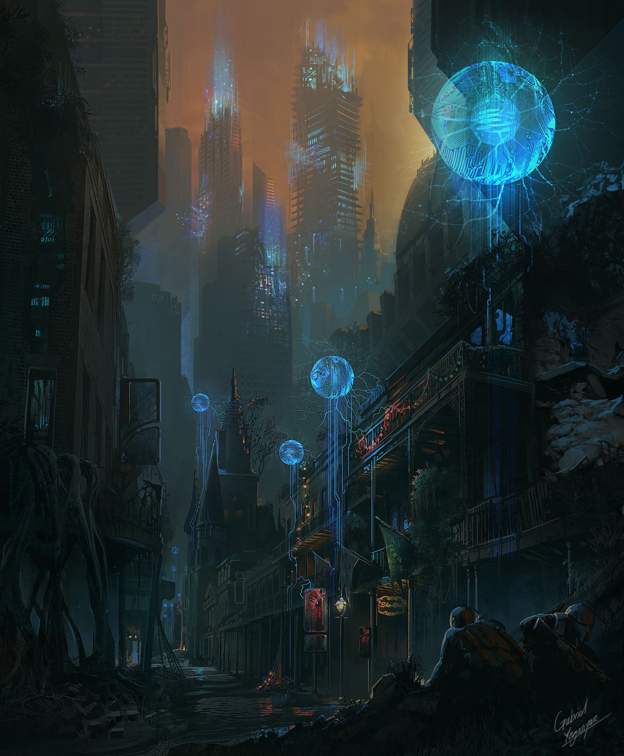 Cyberpunk Artworks - Art Environment Concept