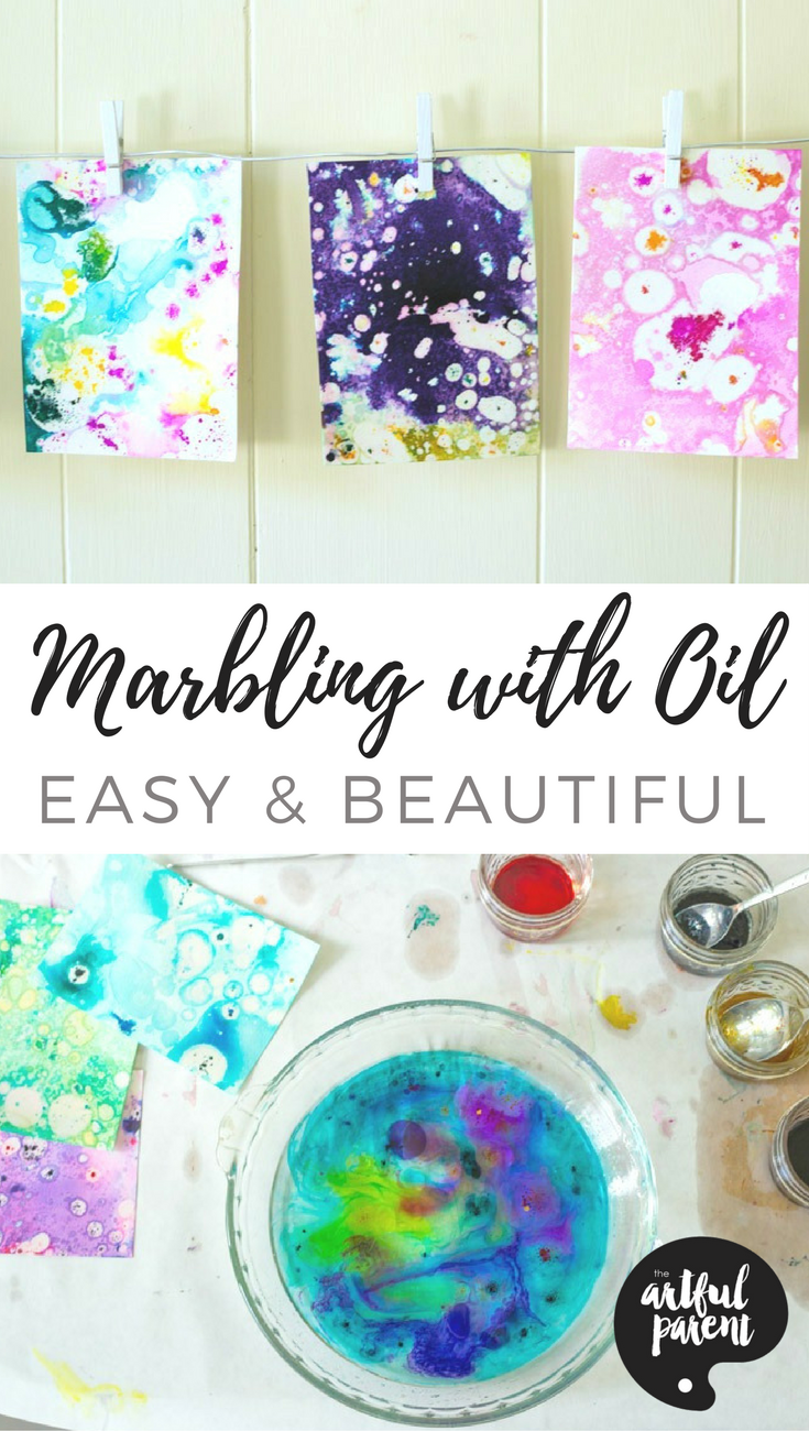 Marbling with Oil and Food Coloring Marbling with