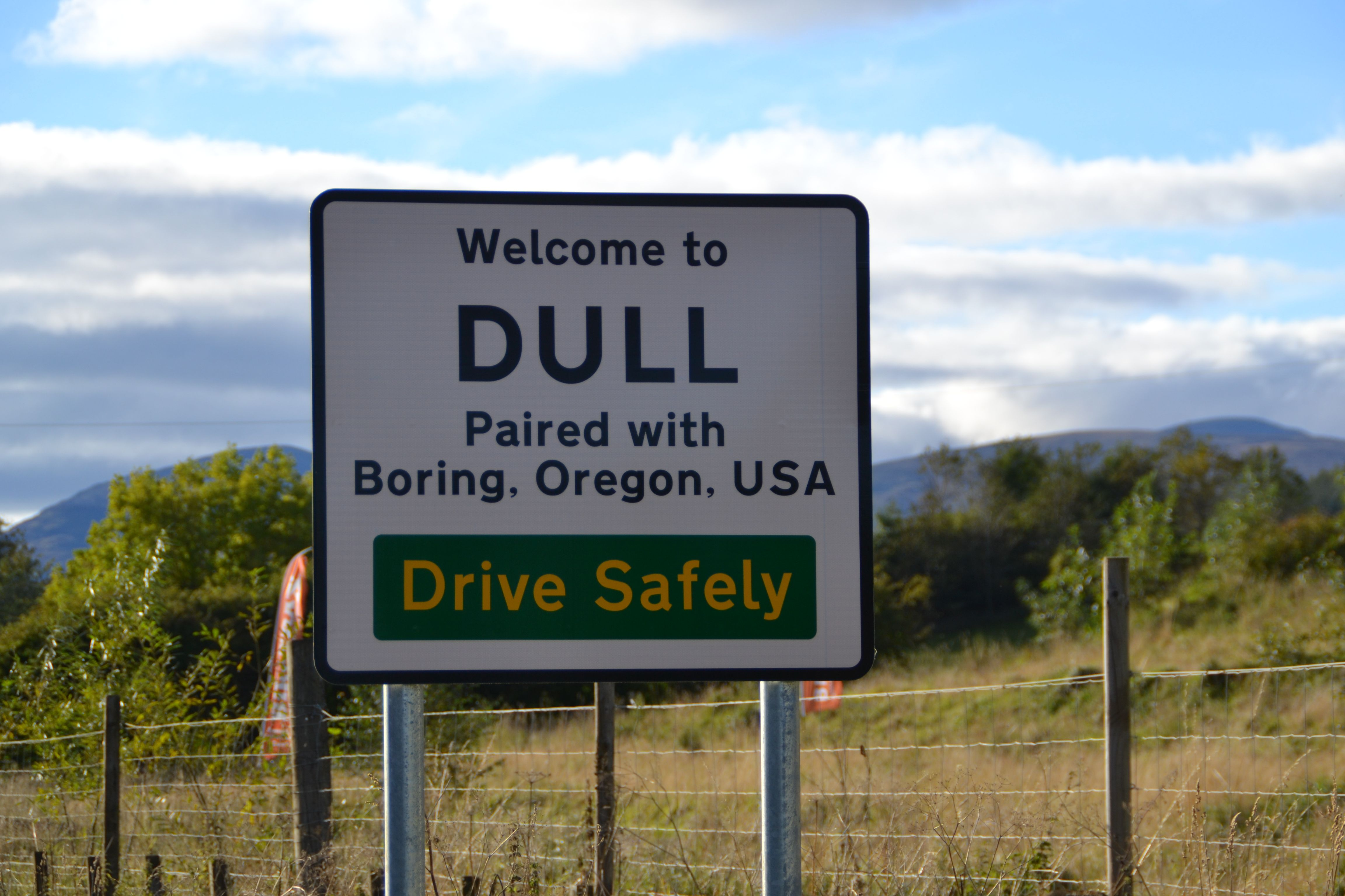 Sign in Perthshire    sister city to the city of Boring in