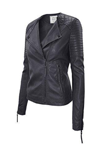 90b010effd98 SALE PRICE -  37.45 - Timestory Ever77 Women s Classic Faux Leather Jacket  TJ1031CI