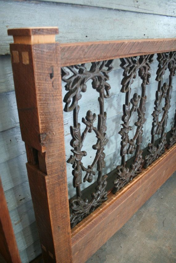 This Guy Makes Wood And Wrought Iron Beds Made From Reclaimed Pieces From The French Quarter In Nola I Iron Headboard Wrought Iron Headboard Wrought Iron Beds
