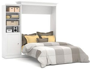 White Murphy Bed With Bookcase Bookcase Murphy Beds To Save