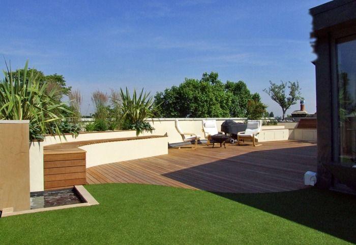 Aménagement de toit-terrasse u2013 paradis vert au milieu de ville