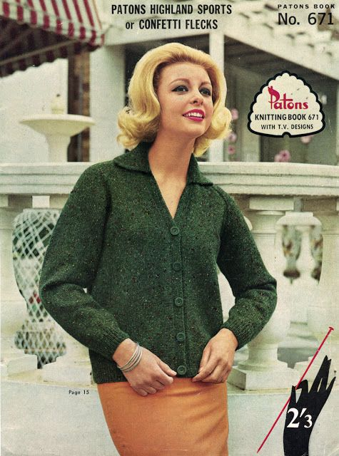 The Vintage Pattern Files Free 1960s Knitting Pattern Patons Book