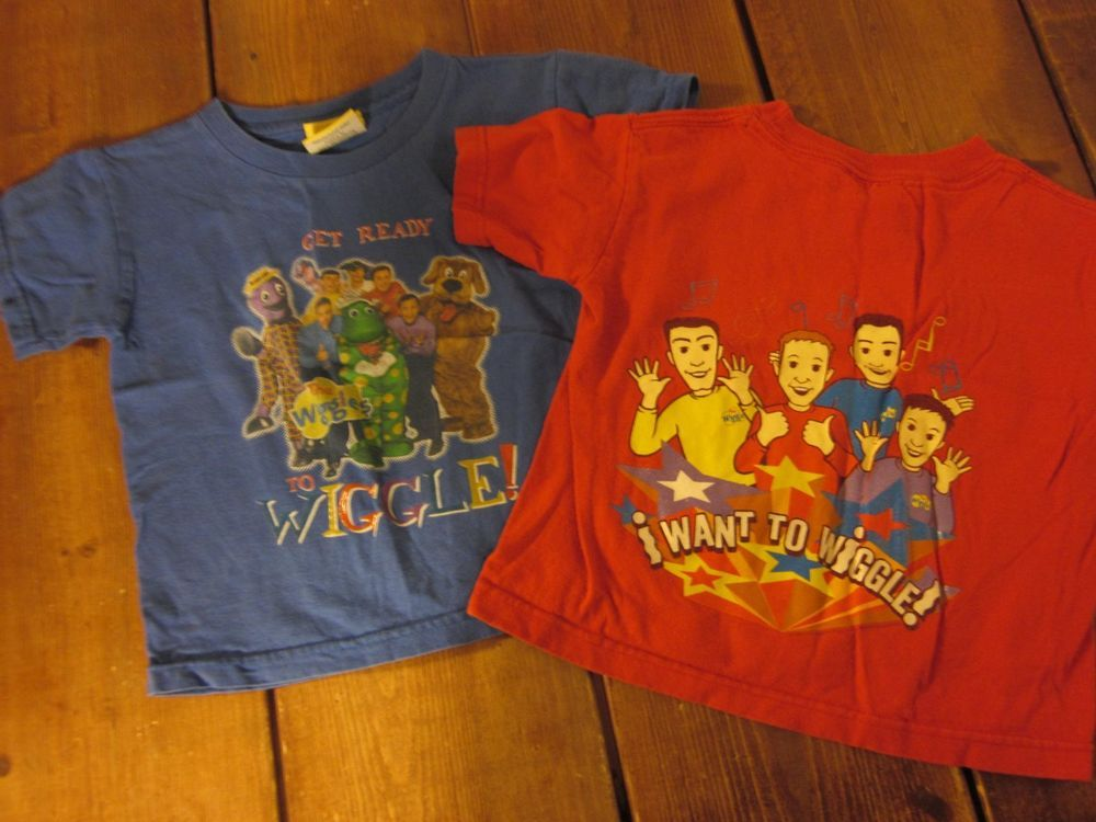 d2bfa9c685 2Pc) THE WIGGLES (Size 3T) Boys Red/Blue Shirts #TheWiggles | Ideas ...