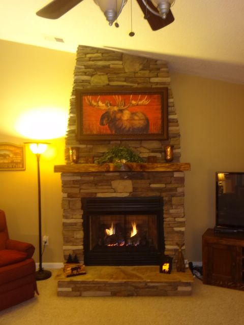 Pin By Sylvia Richardson On Diy Stone Projects Brick Fireplace Makeover Gas Fireplace Logs Fireplace