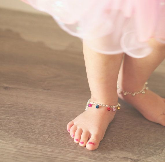 Baby Anklet Bell Bracelet In Gold Or Silver Ankle Boho Wedding S Jewelry Ballerina Birthday Toddler Gift