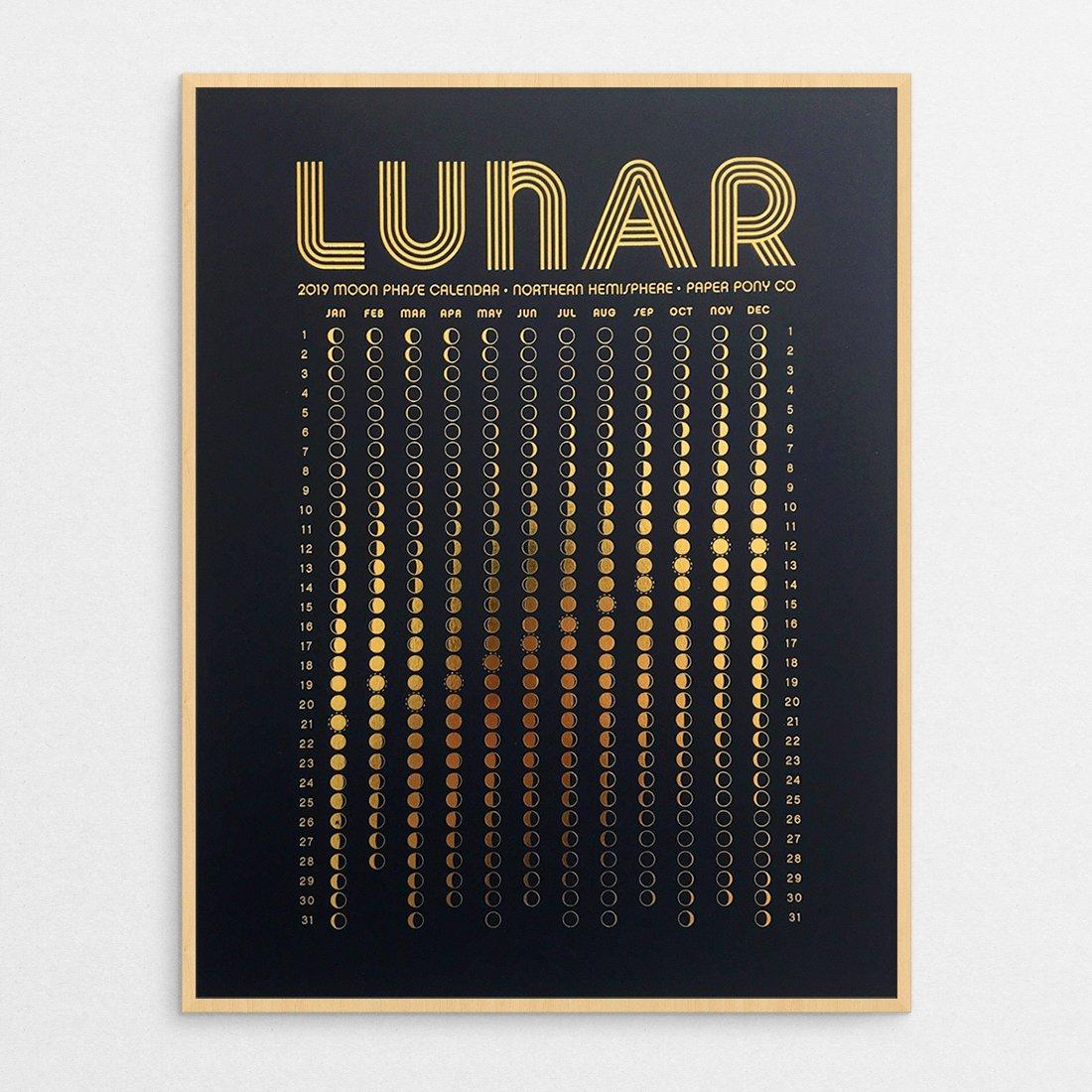 Lunar Calendar In Gold