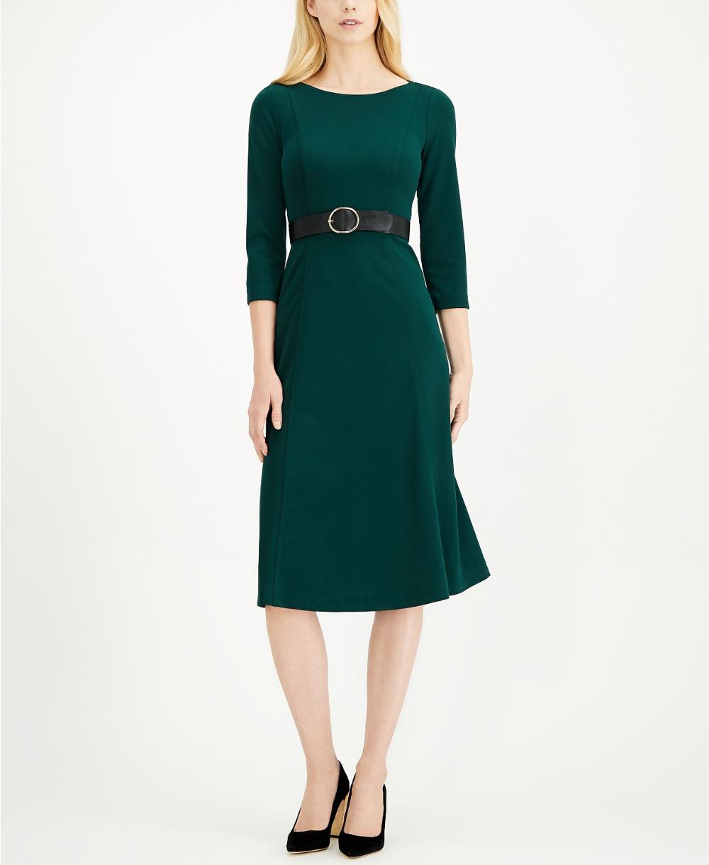Calvin Klein 3/4Sleeve Belted Midi Dress in 2020