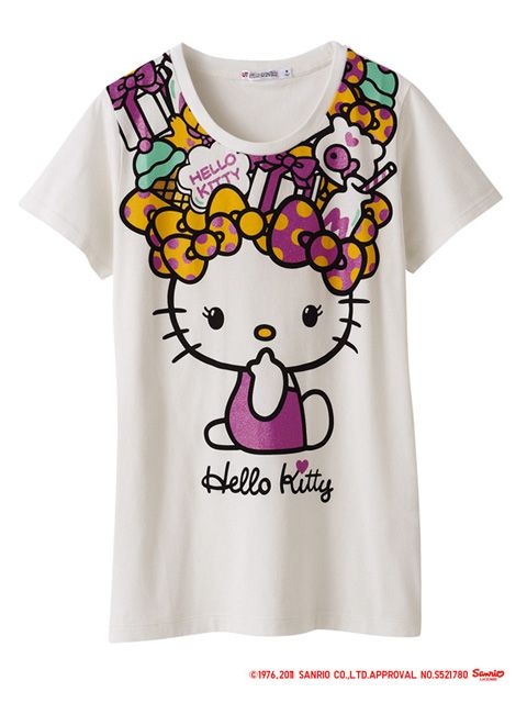 61a19a109 Hello Kitty x UNIQLO Tee | Hello Kitty | Hello kitty clothes, Hello ...