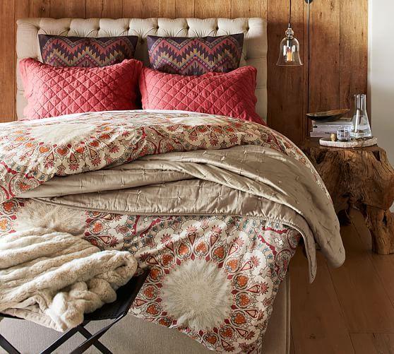 Valencia Medallion Shams Affordable Bedding Sets Guest Bedroom Decor White Linen Bedding