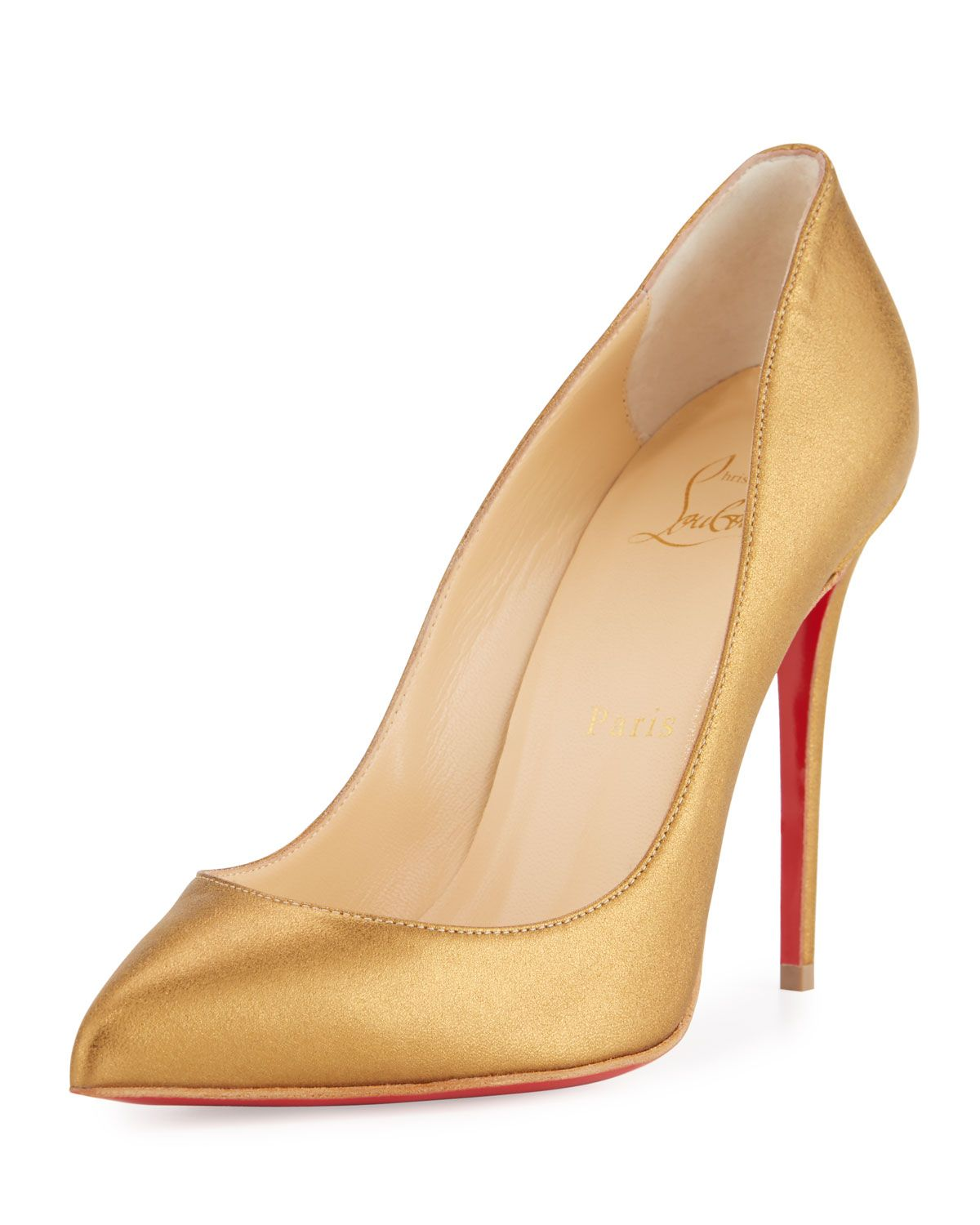 ba1943b0c7b Christian Louboutin Pigalle Follies Leather 100mm Red Sole Pump ...