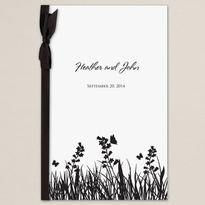 butterfly kisses wedding program cover wedding program covers