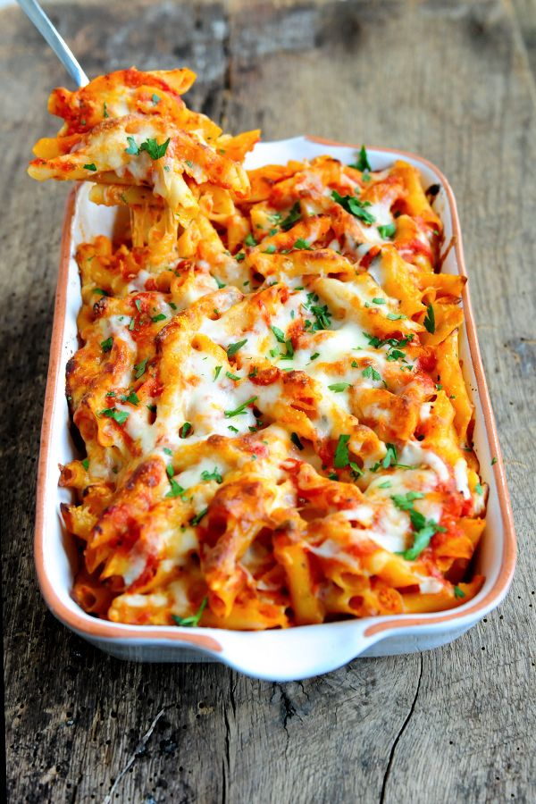 Cheesy Baked Ziti Recipe | Delallo