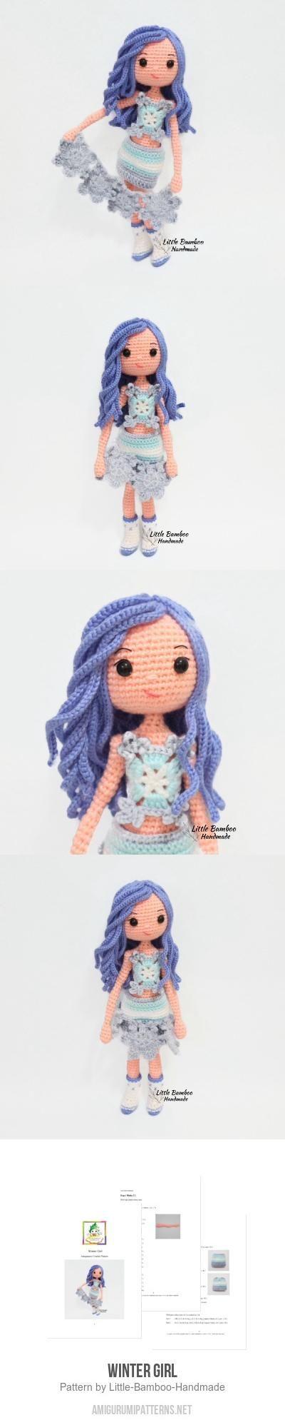 Winter Girl Amigurumi Pattern Lalylala Pinterest Haken