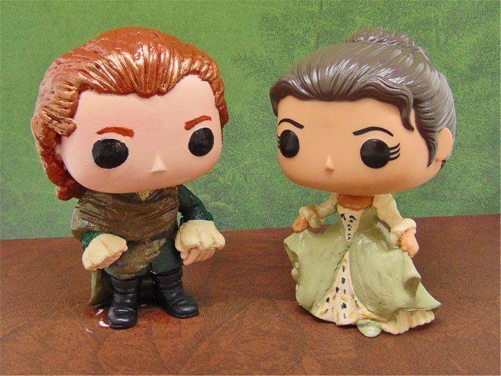 Outlander Jamie And Claire S Wedding Custom Funko Pops By Joni Outlander Claire Outlander Anna