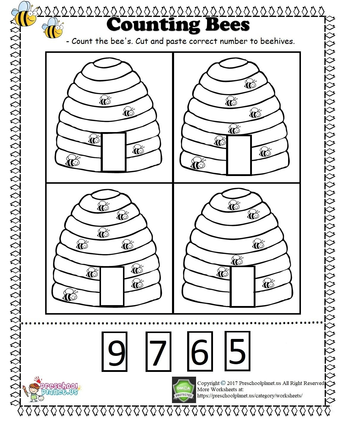 Butterfly Counting Pre K Worksheet