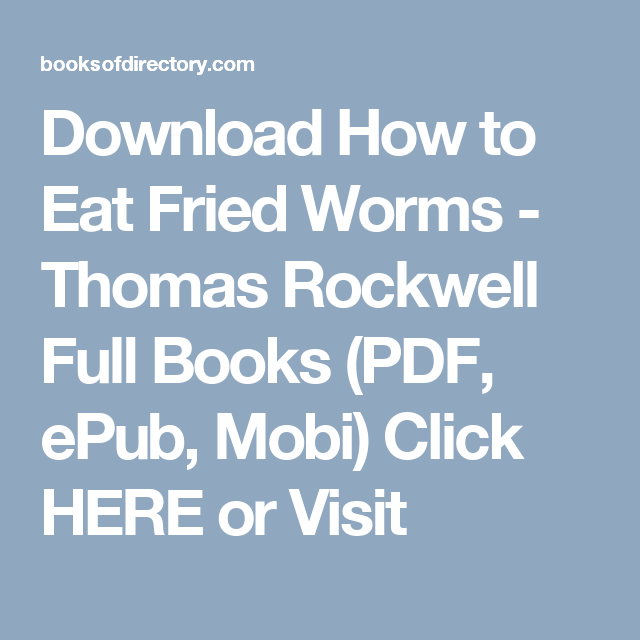 Download how to eat fried worms thomas rockwell full books pdf download how to eat fried worms thomas rockwell full books pdf epub ccuart Images