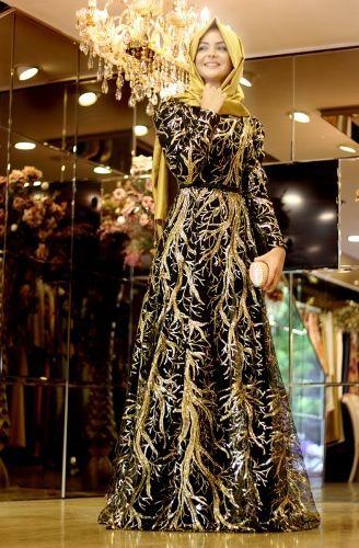 Tesettur Giyim Modasina Yon Veren Marka Tasarimlar Ala Tesettur Elbise Elbiseler Siyah Abiye