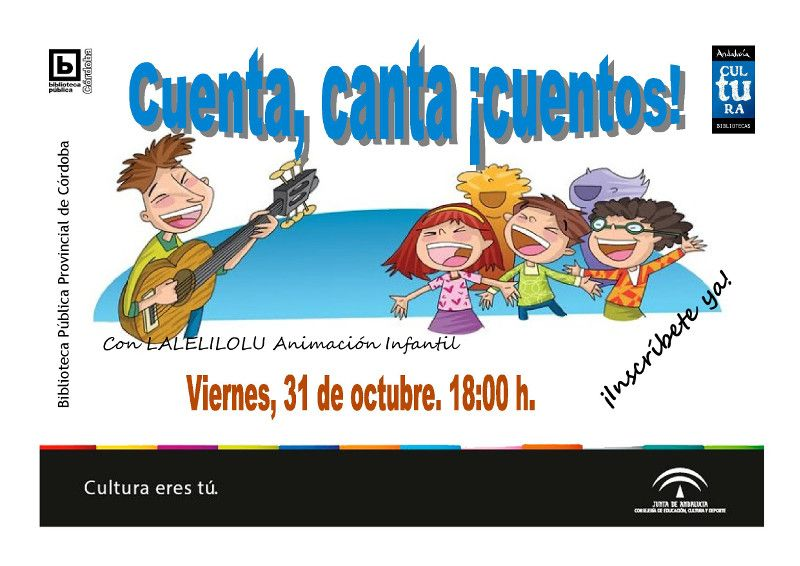 Cuenta, canta ¡cuentos!. Viernes, 31 de octubre 2014. 18:00 h.