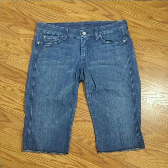 Womens A Pocket 7 For All Mankind Denim Capris In EUC 7 for all Mankind Jeans