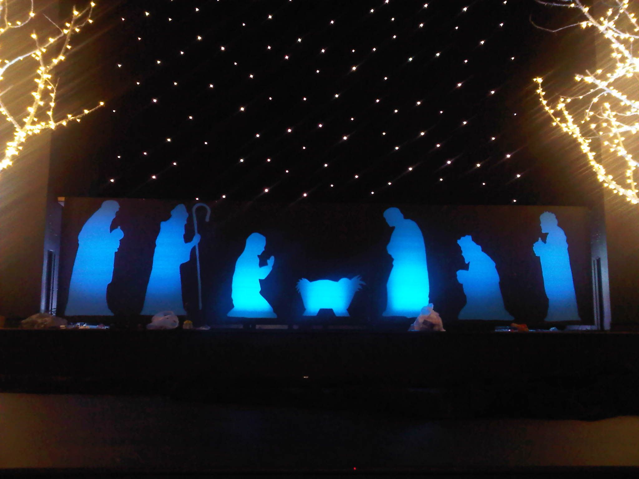 Christmas eve worship service ideas - Christmas Eve Stage Design By Ashima Samuel