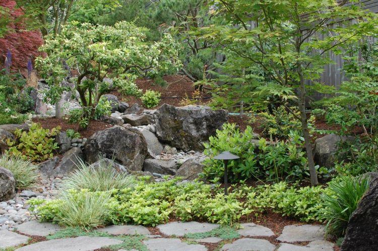 japanischer garten mit exotischem flair und kleinen bumen - Schone Japanische Gartengestaltung Landschaftsgestaltung Ideen Fur Kleine Raume