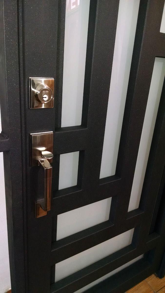 Puerta principal de forja contemporanea super oferta for Puertas principales
