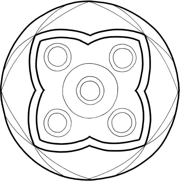 Mandalas zum Ausdrucken: Tolle Blumen-Mandala-Vorlage zum Ausmalen für Kindergartenkinder, aber auch für Erwachsene. In 2 Größen - DinA4 und Dina5 (Mini-Mandala)