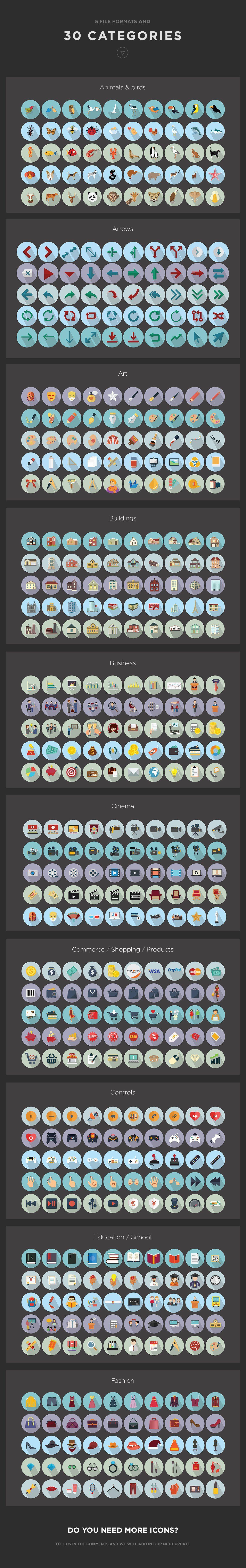 Jumbo Icons Flat Vector Pack by Jumbo Icons on